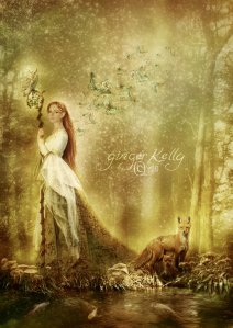 The_Lady_of_the_Forest_by_gingerkellystudio
